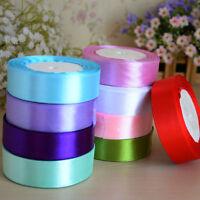 25YD Satin Ribbon 25mm Multi Craft Wedding Supplies Flower Fabric Party