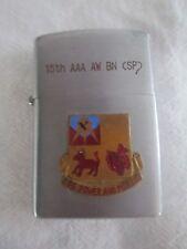 Korean War Era Ace Lighter 15th AAA AW BN anti aircraft insignia battle axe