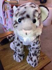 "2019 Wild Republic  Cuddlekins 12"" Plush Snow Leopard Cat"