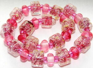 "Sistersbeads ""Cotton Candy"" Handmade Lampwork Beads"
