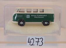 Brekina 1/87 Volkswagen Bulli VW T1b Bus Friedensdorf Oberhausen OVP #4273