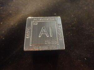 """ALUMINUM CUBE 1.25"""" SQUARE 3 OZ CUBE-SQUARE  """"AL""""  99.9% PURE ALUMINUM-  UNIQUE"""