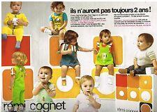 Publicité Advertising 1973 Les Vetements pour enfants Rémi Cognet