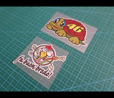 2 Pics valentino Rossi 46 Turtle & chicken Reflective MotoGP Decal Set #04