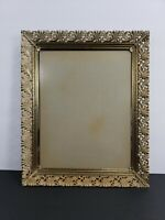 Vintage Gold Picture Ornate Filigree Metal Picture Frame 16 x 13 Hang