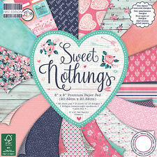 Sweet Nothings First Edition Paper Pad 8 x 8 - 48 Sheets Scrapbooking Card Craft