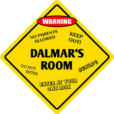 "*Aluminum* Dalmar's Room Kids Room Door 12""x12""  Metal Novelty Sign"