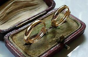 GENUINE 9ct Gold gf hoop earrings, HIGHEST QUALITY Last few left {M5}