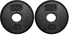 CAP Barbell 1-Inch Standard Cast Iron Weight Plate, 2 x 1.25lbs
