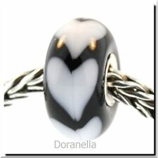 Authentic Trollbeads Glass 61382 White Heart *0