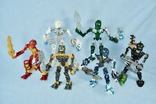 All 6 Lego Bionicle INIKA (8727-8732) with Light-Up Weapons & Zamor Spheres