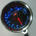 New Universal Motor Speedometer Odometer Gauges Head Turn Signal LED Light