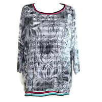 Ruby Rd woman women's shirt pullover top layered look stretch print plus size 2X