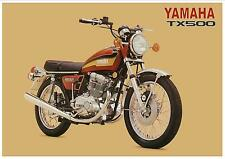 YAMAHA Poster TX500 1973 1974 DOHC Suitable to Frame