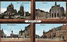 Alte Mehransichtenkarte / Lithografie - Blumenstadt Erfurt - 1912