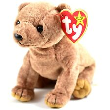1999 TY Beanie Baby Original Pecan Brown Bear Retired Beanbag Plush Toy Doll