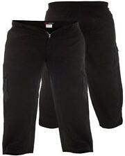Pantalones de hombre cargo negras 100% algodón