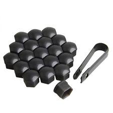 20 x Alloy Wheel Black Nut Caps Bolt Head Covers 17mm SEAT Leon Ibiza Altea XL