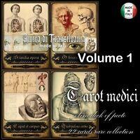 Antica anatomia medicina chirurgia farmacia foto vintage tarocchi mazzi di carte