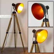 Stechleuchte Design Boden Stehlampe Büro Zimmer Film Scheinwerfer Kupfer schwarz
