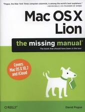 Mac OS X Lion: The Missing Manual, Pogue, David, Good Condition, Book