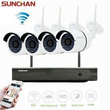 4CH Full HD Wifi NVR 960P Outdoor Network CCTV Wireless Security Camera System