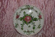 PIATTO fondo maiolica alla rosa Pesaro Molaroni cm. 21,5 (7) V3 plate  ^