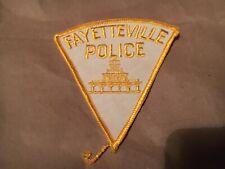 FAYETTEVILLE NORTH CAROLINA POLICE patch NB RARE WHITE VERSION