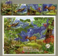 Vietnam 2018 Tiere Nationalpark Vogel Gecko Insekt Ungezähnt Postfrisch MNH