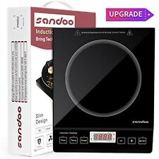 Sandoo Induction Cooktop, 1800W Portable Electric Burner Stove