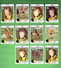 #D404. 1975  BALMAIN TIGERS   RUGBY LEAGUE  CARDS - ALL 11 CARDS