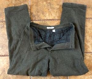 Vintage  J.Crew 32 x 32 Heavy Wool Tweed Herringbone Flannel Lined Trousers