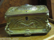 ANTIQUE FRENCH GOLD PLATED JEWELRY BOX FRANCE