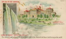 Shredded Wheat Biscuit Triscuit Niagara Falls NY New York Advertising Postcard
