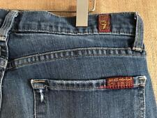 "7 for all mankind women's blue denim jeans high waist bootcut size 28 x 32""  USA"
