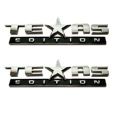 (Set of TWO) TEXAS EDITION EMBLEM CHEVY SILVERADO SIERRA TRUCK UNIVERSAL DECAL