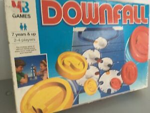 Vintage Downfall MB Games Board Game 1997 Long Box 100% Complete