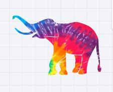 Tie Dye Elephant 2 Decal/Sticker for Car/Truck/Window/Mirror