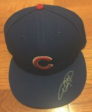 CHICAGO CUBS DEXTER FOWLER SIGNED NEW ERA Game CAP Hat World Series Photo Proof