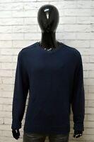 Maglione Uomo KAPPA Taglia XL Cardigan Felpa Pullover Sweater Man Blu Cotone