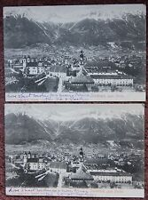 2x Innsbruck gegen Norden View 1905 Vintage Postcard PC Tyrol Austria