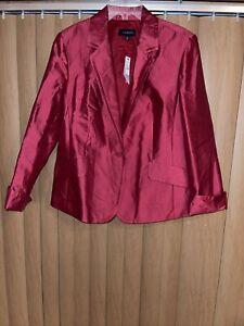 Talbots Women Cranberry Blazer 20