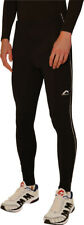 More Mile Mens Thermal Running Tights Black Fleece Lined Winter Run Tight M L