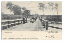 Hellevoetsluis, Brielsche Brug, PPC, Edwardian Family Group on Dutch Bridge 1903