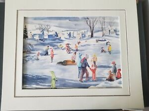 American W/C-1950's-Numerous Ice Skaters-Signed Tufts-High Quality