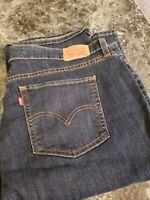 Women's Levi's 415 Classic Boot Cut Stretch Denim Jeans Plus Size 20W M