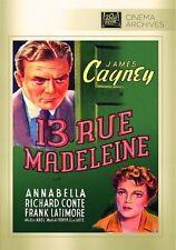 13 RUE MADELEINE (James Cagney)  DVD - UK Compatible  - Sealed