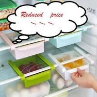 Slide Kitchen Fridge Freezer Space Saver Organizer Holder·New Shelf Storage A3J6