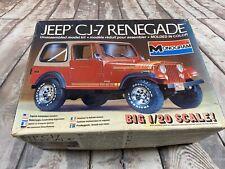 Monogram 1/20 2402 Jeep CJ-7 Renegade Model Car Kit (SEE DESCRIPTION) RARE