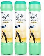 3 X GLADE SHAKE 'N' VAC MAGNOLIA & VANILLA CARPET CLEANING POWDER 500GM